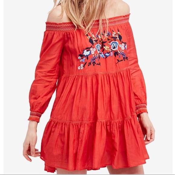 b4826733d02c0 Free People Dresses | Sunbeams Smock Embroidered Mini Dress | Poshmark